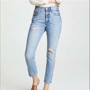 "Levis 501 Skinny Jeans ""Can't Touch This"" 26"